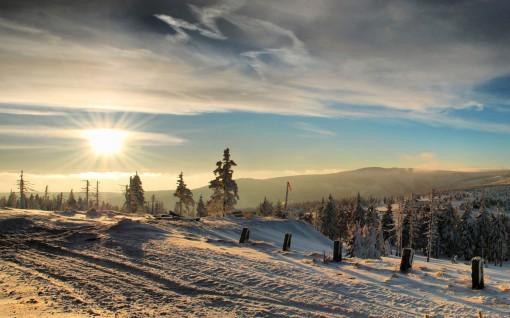 Сибирь зимой.