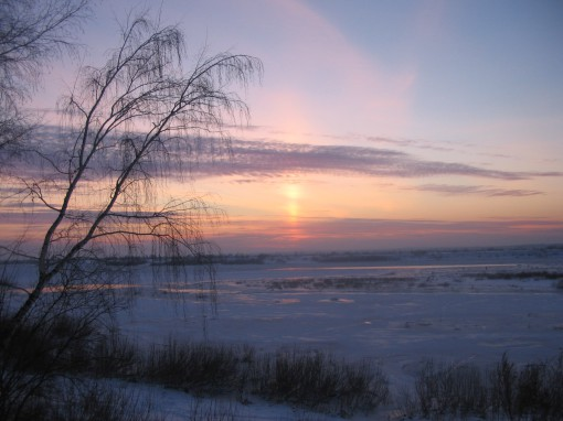 Вид на зимнюю Томь