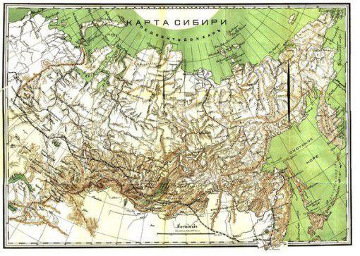 Историческая карта Сибири