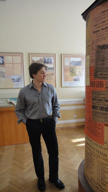 Сергей Безруков в музее Источник:http://www.ikz.ru/siberianway/omsk/civilwar.html