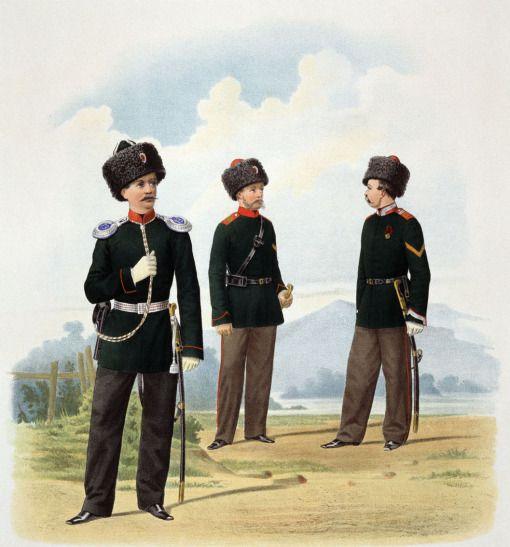 Пешие батальоны Забайкальского казачьего войска и конные: Иркутский и Енисейский казачьи полки, 1867 г