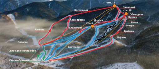 Схема региона катания Источник: www.ski.ru