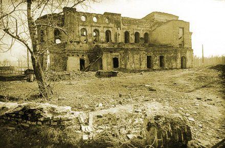 Спасо-Преображенский собор после разрушения в 1935 году.