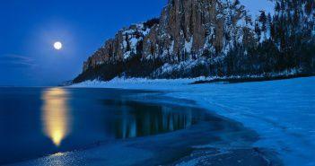 Ленские столбы, ледостав, Якутия