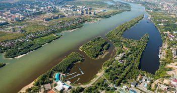 Зелёный остров, Омск, Омь, Фото