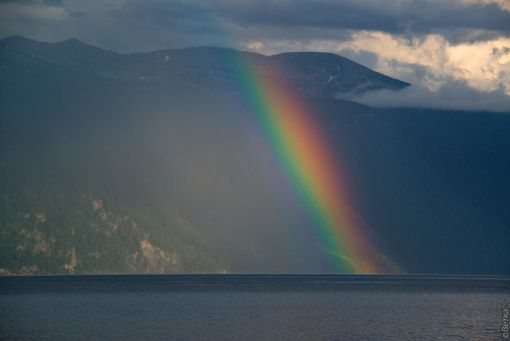 Радуга, Телецкое озеро, Алтай