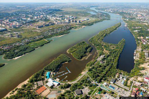 Зелёный остров, Омск, Омка, Фото