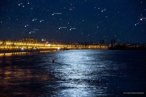 Омск, Звезды, Фото, Иртыш