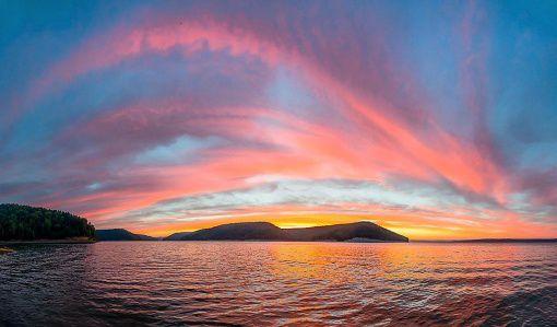 Красноярское море, рассвет, Фото