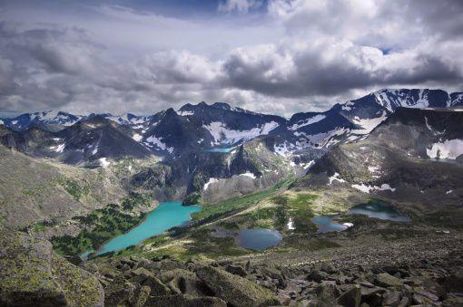 Крепкие озера, Катунский хребет, Алтай, фото