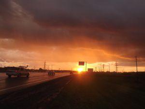 закат, Барнаул, фото
