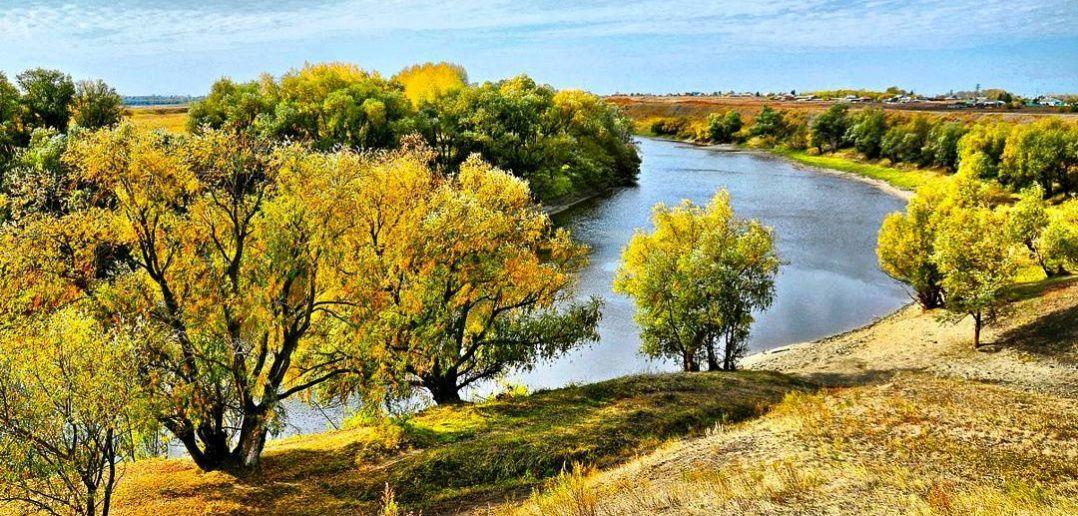 Река Омка, Калачинский район, Омская область, Западная Сибирь, Фото