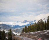 Р-257 Енисей, дорога на Кызыл, вид с турбазы «Снежная»   фото: Константин Первухин