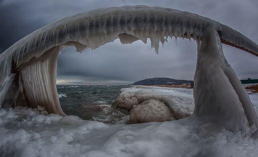 Зима, Байкал, фото
