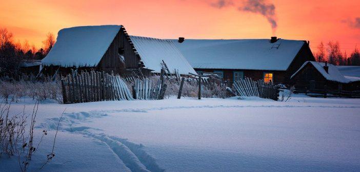 Спящие в снегах… Поселок Клюквинка, Верхнекетский район, Томская область.