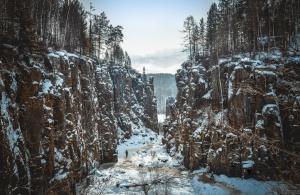Уковского водопада,. Иркутская область