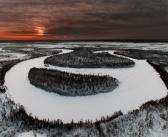 Тундра с высоты. Новый Уренгой, ноябрь 2016. Фото: Камиль Нуреев