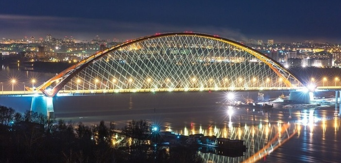 Новосибирск. Третий мост через р. Обь.  Фото: Надежда Грей