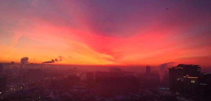 Новосибирский рассвет 28.01.2017   фото: Леся Олесина