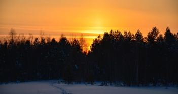 На исходе дня. Болота Верхнекетья, Томская область.   фото: Вадим Бояринов