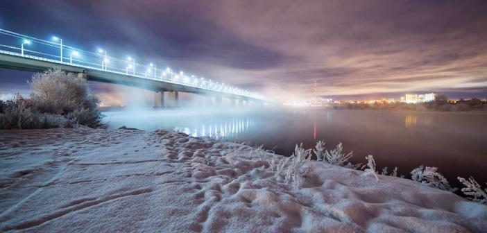 Ночной Иркутск Фото: instagram ilya.buyanov