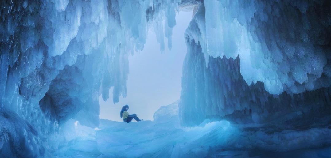 Ледовая пещера, Байкала, Фото