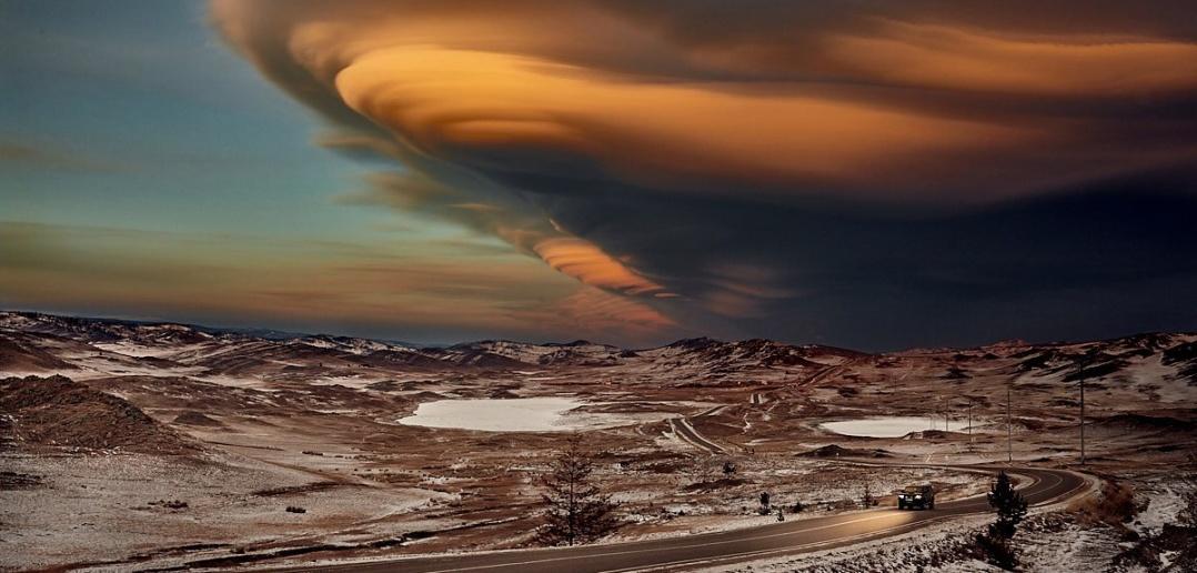 Лентикулярные облака, Малого моря, Байкал, Фото