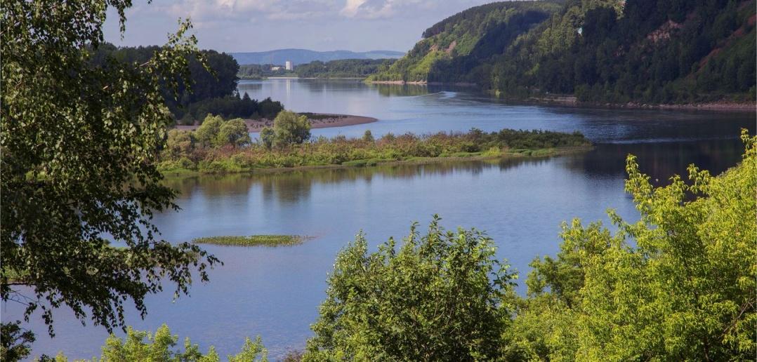 Река Томь, Кемеровская обл. Фото
