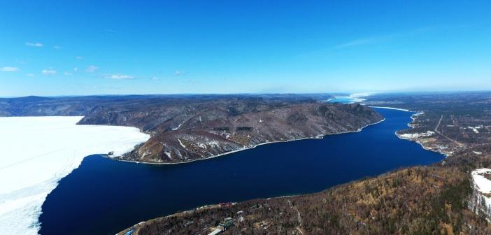 Место, где берет своё начало река Ангара Фото: Татарников Алексей