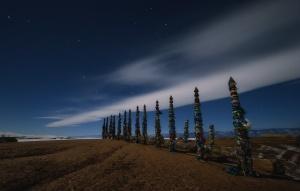 Столбы Сэргэ, Шаманская коновязь, Ольхон, Байкал, Иркутская область, Фото