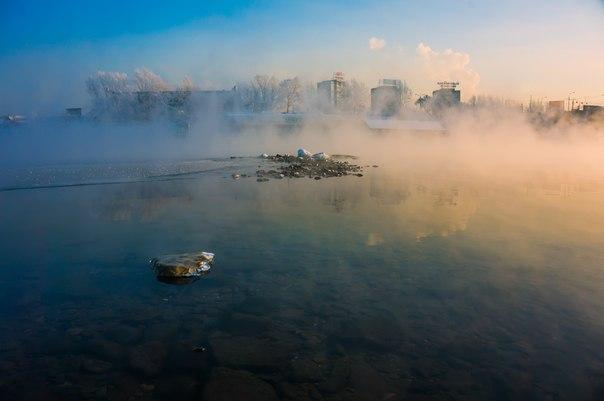 Туман в Красноярске