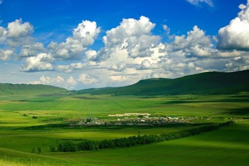 Хакасия, деревня Подкамень, фото