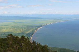 Баргузинский залив с высоты
