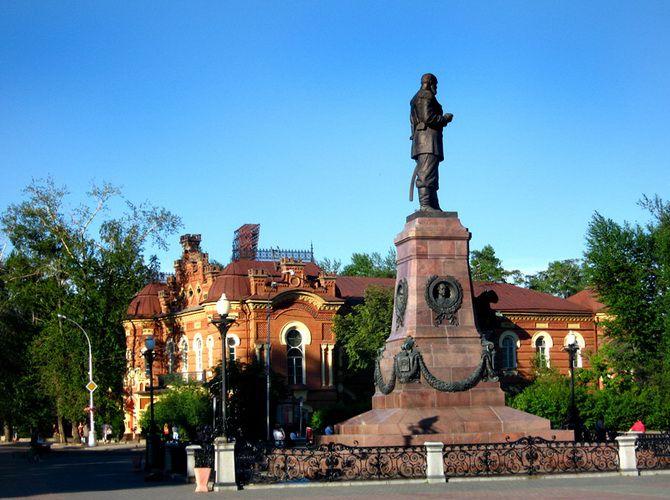 Памятник императору Александру III в Иркутске