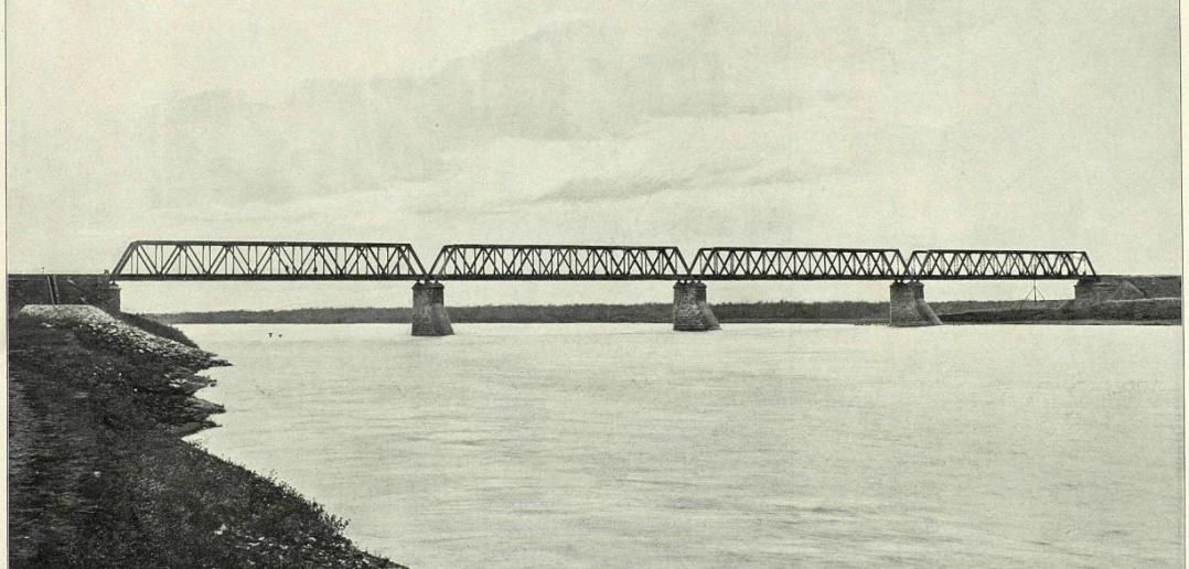 Железный  мост через реку Кию