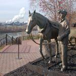 Памятник коногону