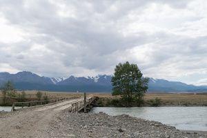 Путь на Северо-Чуйский хребет к ледникам Актру через Курайскую степь