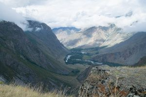 Вид на долину реки Чулышман. Республика Алтай