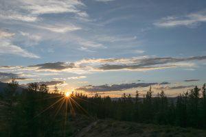 Закат на Перевалке. Республика Алтай. (2)