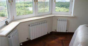 Водяной теплый пол на балконе от центрального отопления.