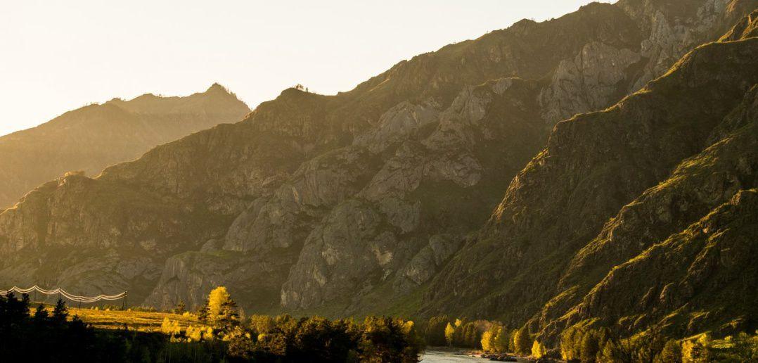 закат, Чемальский район, фото