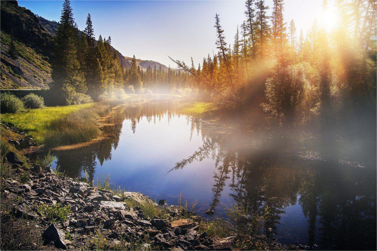 Алтай, неизвестный водоем, Чуйский тракт, фото