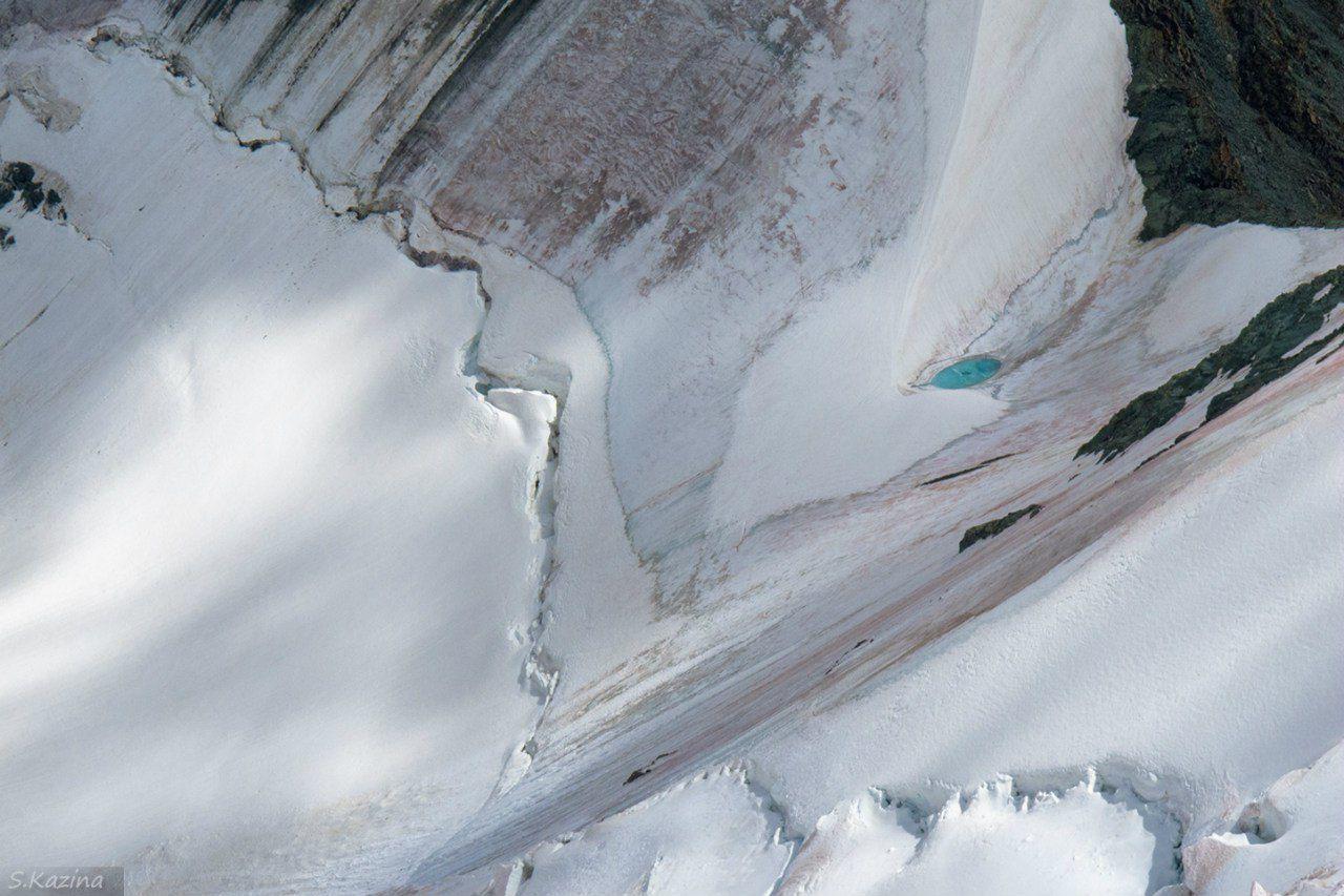 Ледник, Ирбисту, Южно-Чуйский хребет, республика Алтай, фото