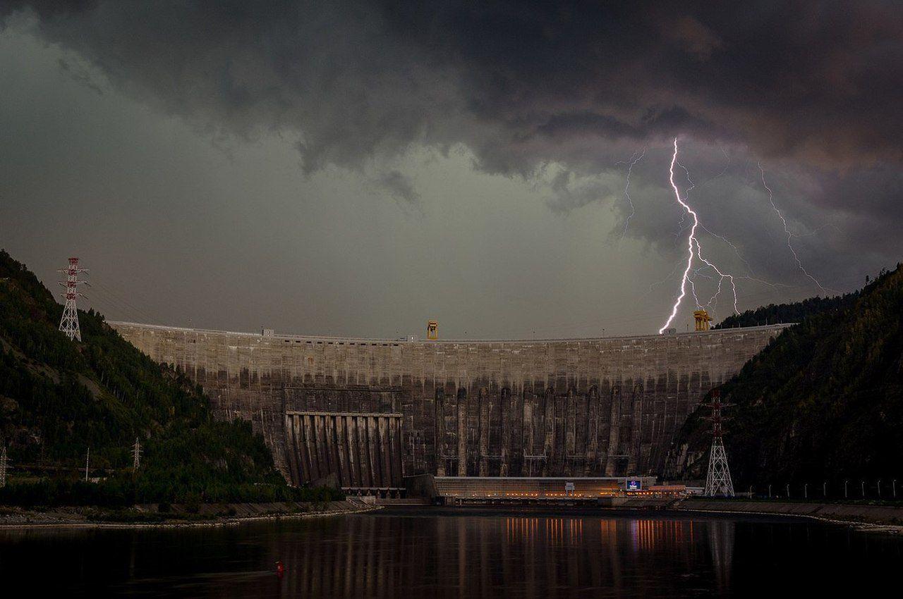 Гроза, Саяно-Шушенская ГЭС, Красноярский край