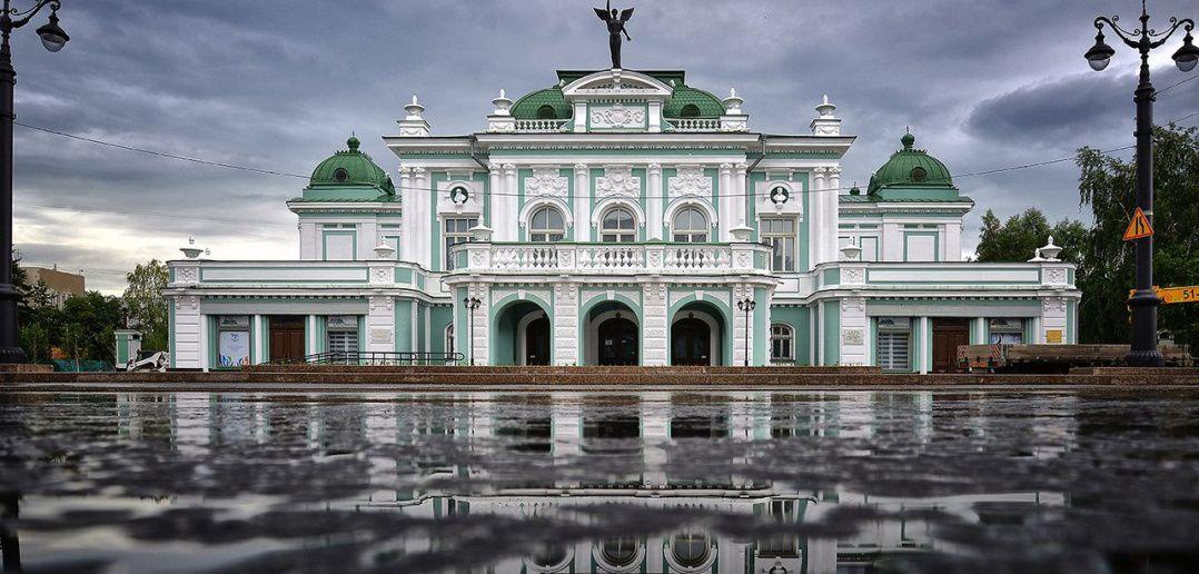 Омск, театр драмы, Фото