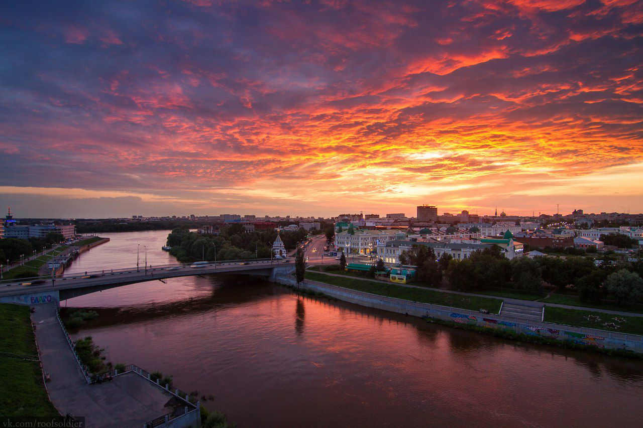 Закат, Омск, фото