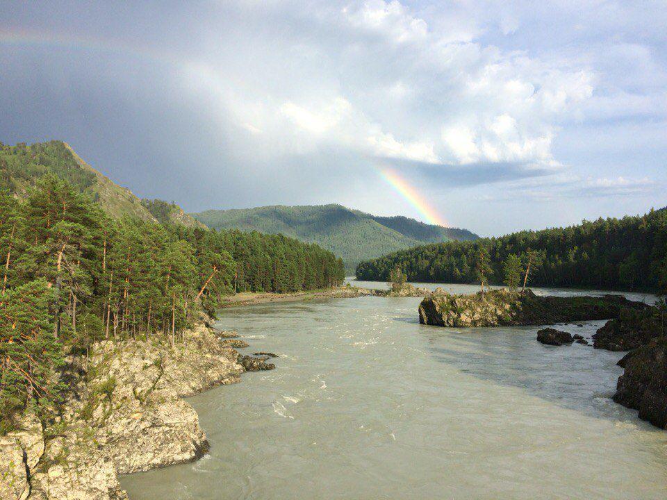 Радуга, Катунь, Алтай, фото