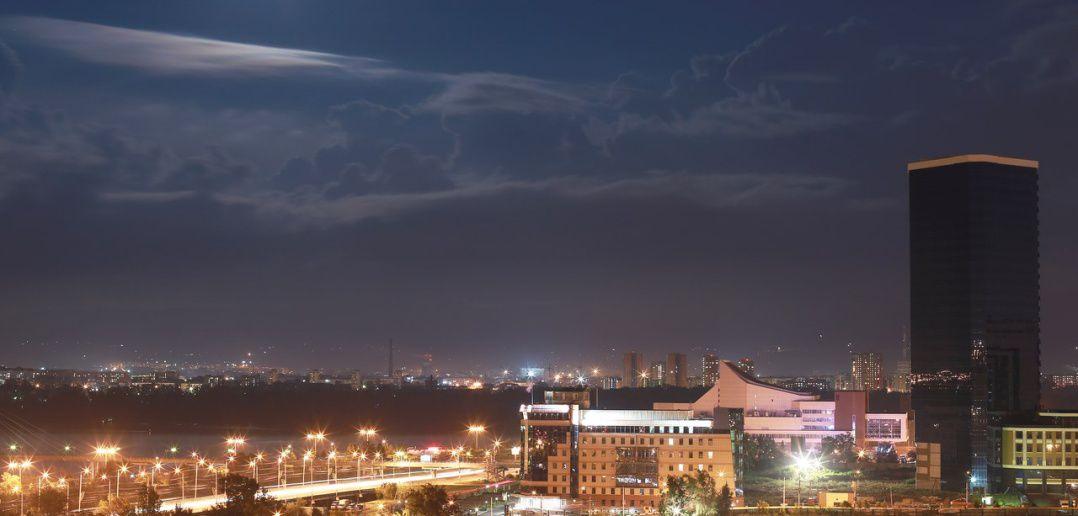 Красноярск, Полнолуние, фото