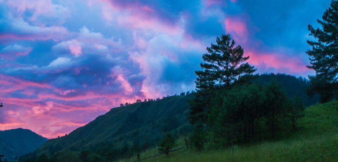 закат, Чемал, фото