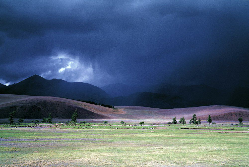 Грозный ливень, Тува, фото